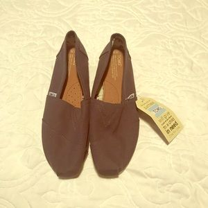 Brand New Toms slip on canvas shoes